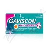 Gaviscon Duo Efekt žvýkací tablety por. tbl. mnd. 24