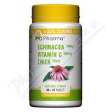 Echinacea 100mg+VitamínC 500mg+Zinek10mg tbl. 30+10