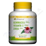 Echinacea 100mg+VitamínC 500mg+Zinek10mg tbl. 90+30