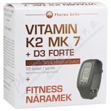 Vitamín K2 MK 7 + D3 Forte tbl. 125 + Fitness nár.