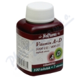 MedPharma Vitamín A+D (5000 I. U. -400 I. U. ) tob. 107