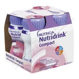 Nutridrink Compact s přích.  jahod.  por. sol. 4x125ml