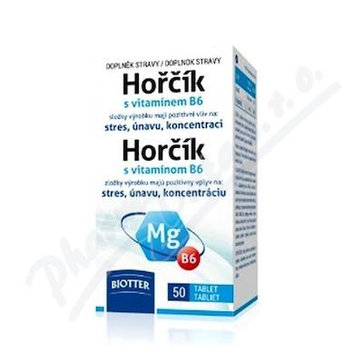 Biotter Hořčík 125mg s vitamínem B6 tbl.50
