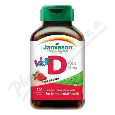 JAMIESON Vitamín D3 Kids jahoda cucací tbl.100