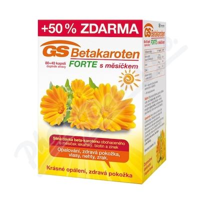 GS Betakaroten Forte s měsíčkem cps.80+40
