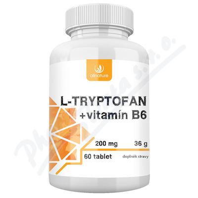 Allnature L-tryptofan + vit.B6 200mg-2.5mg tbl.60