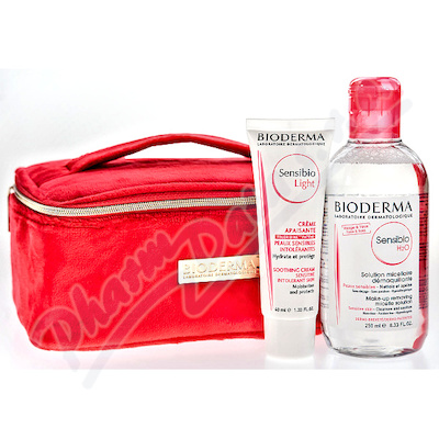 BIODERMA Sensibio H2O 250 ml + Light 40ml+taštička