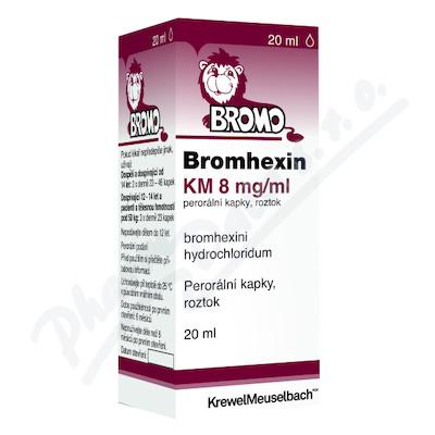 Bromhexin 8 KM kapky gtt.1x20ml 8mg-ml