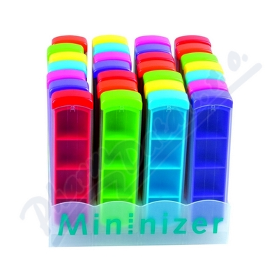 Dávkovač na léky barevný denní 1ks